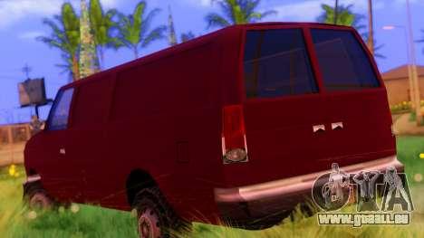 Ambush Van für GTA San Andreas linke Ansicht