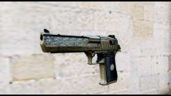 Golden Engraved Desert Eagle