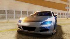 Mazda RX-8 Tuned Black Rock Shooter Itasha pour GTA San Andreas