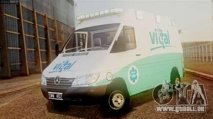 Mercedes-Benz Sprinter Ambulance Vittal pour GTA San Andreas