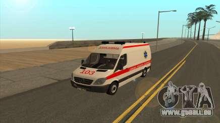 Mercedes-Benz Sprinter Ambulance De L'Ukraine pour GTA San Andreas