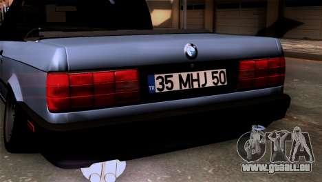 BMW M3 E30 Cabrio für GTA San Andreas Rückansicht