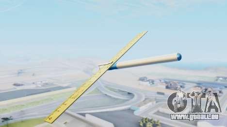 Fantastisches Flugzeug für GTA San Andreas linke Ansicht