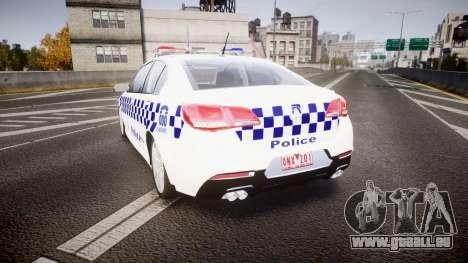 Holden VF Commodore SS NSW Police [ELS] pour GTA 4 Vue arrière de la gauche