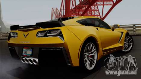 Chevrolet Corvette Z06 1.0.1 pour GTA San Andreas laissé vue