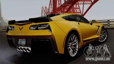Chevrolet Corvette Z06 1.0.1 für GTA San Andreas linke Ansicht