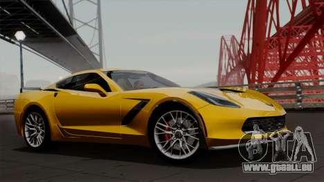 Chevrolet Corvette Z06 1.0.1 für GTA San Andreas zurück linke Ansicht