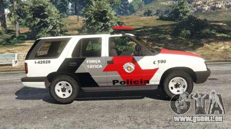 GTA 5 Chevrolet Blazer Sao Paulo State Police vue latérale gauche