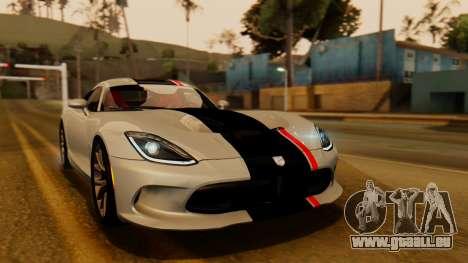 Dodge Viper SRT GTS 2013 IVF (HQ PJ) No Dirt pour GTA San Andreas vue de côté