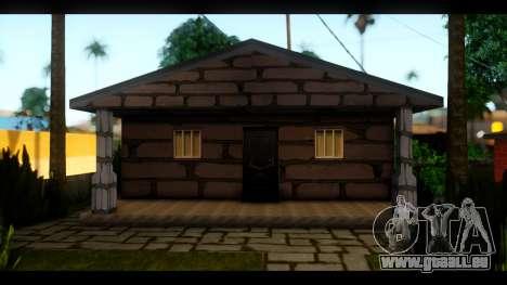 Neue Texturen der Häuser rund um die grove Stree für GTA San Andreas dritten Screenshot