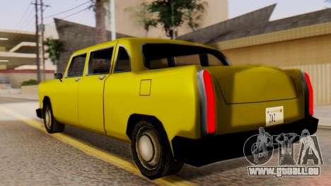 Cabbie New Edition für GTA San Andreas linke Ansicht