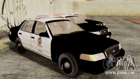 Ford Crown Victoria 2009 LAPD pour GTA San Andreas vue de droite