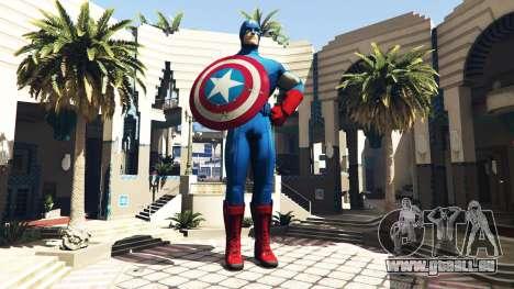 Statue Von Captain America für GTA 5
