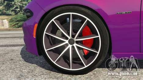 GTA 5 Dodge Charger RT 2015 v1.1 arrière droit vue de côté