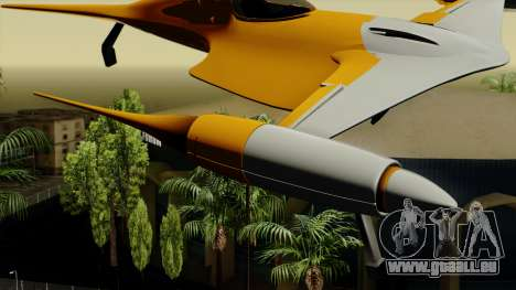 Star Wars N-1 Naboo Starfighter pour GTA San Andreas sur la vue arrière gauche