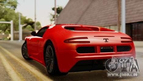 GTA 5 Adder Secondary Color Tire Dirt für GTA San Andreas linke Ansicht