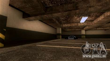 Nouveau LSPD Parking pour GTA San Andreas troisième écran