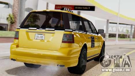 Landstalker Taxi SR 4 Style Flatshadow pour GTA San Andreas laissé vue
