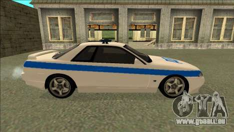 Nissan Skyline R32 Russian Police für GTA San Andreas Innenansicht
