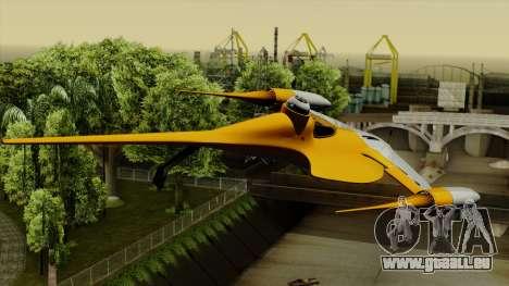 Star Wars N-1 Naboo Starfighter für GTA San Andreas linke Ansicht
