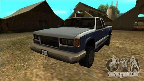 New Yosemite v2 pour GTA San Andreas sur la vue arrière gauche