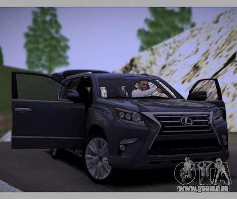 Lexus GX460 2014 für GTA San Andreas Seitenansicht