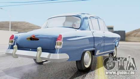 GAZ 21 Volga v1 pour GTA San Andreas laissé vue