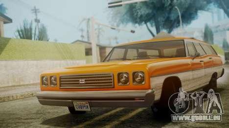 GTA 5 Dundreary Regina pour GTA San Andreas sur la vue arrière gauche