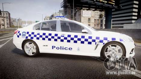 Holden VF Commodore SS NSW Police [ELS] pour GTA 4 est une gauche