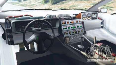 GTA 5 DeLorean DMC-12 Back To The Future v0.2 arrière droit vue de côté