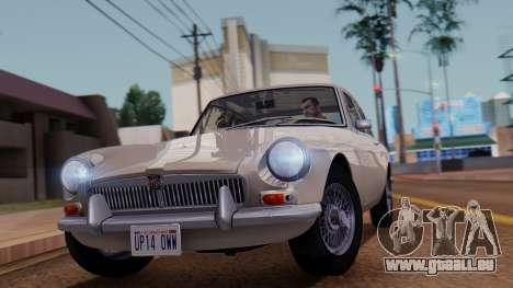 MGB GT (ADO23) 1965 FIV АПП pour GTA San Andreas sur la vue arrière gauche