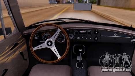 MGB GT (ADO23) 1965 FIV АПП pour GTA San Andreas vue arrière