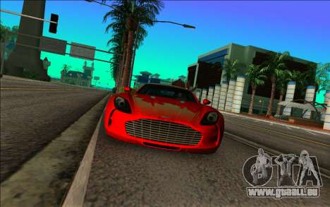 Aston Martin One-77 pour GTA Vice City sur la vue arrière gauche