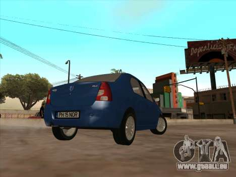Dacia Logan Prestige pour GTA San Andreas vue de droite