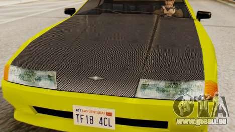 Vinyl für Elegy - Sport für GTA San Andreas rechten Ansicht