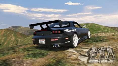 GTA 5 Mazda RX7 C-West 0.2 arrière vue latérale gauche