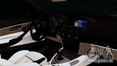 BMW M6 E63 Police Edition für GTA San Andreas rechten Ansicht