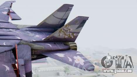 F-14D Zipang pour GTA San Andreas sur la vue arrière gauche