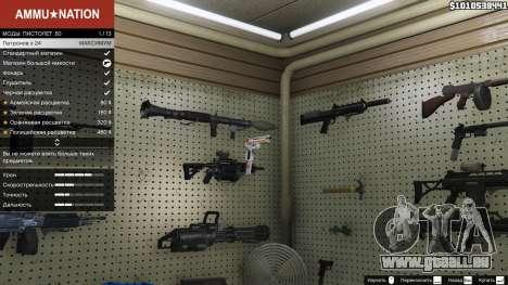 GTA 5 Asiimov Pistol.50 deuxième capture d'écran