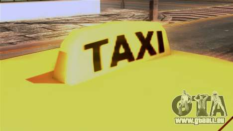 Taxi Kuruma 0.9 für GTA San Andreas Rückansicht