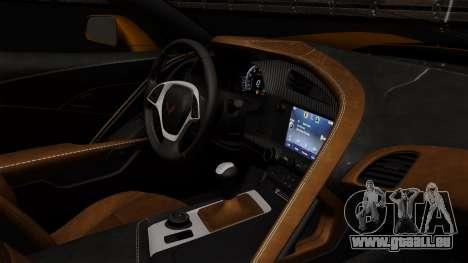 Chevrolet Corvette Z06 1.0.1 pour GTA San Andreas vue arrière