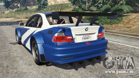 BMW M3 GTR E46 Most Wanted v1.2 pour GTA 5