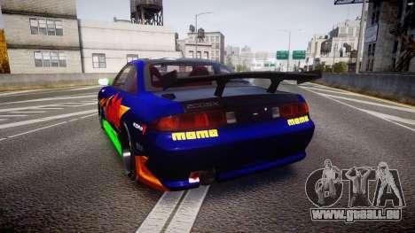 Nissan Silvia S14 pour GTA 4 Vue arrière de la gauche