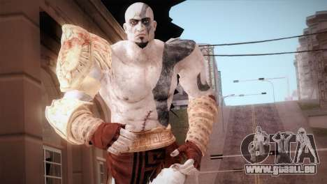 God Of War 3 Kratos Blue für GTA San Andreas