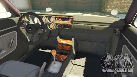 GTA 5 Nissan Skyline 2000 GT-R 1970 v0.1 [Beta] arrière droit vue de côté