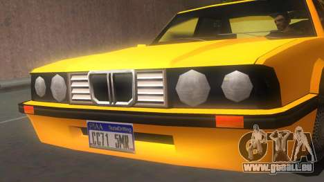 Vincent E30 pour GTA San Andreas sur la vue arrière gauche
