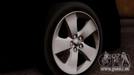 Toyota Prius ДПС pour GTA San Andreas sur la vue arrière gauche