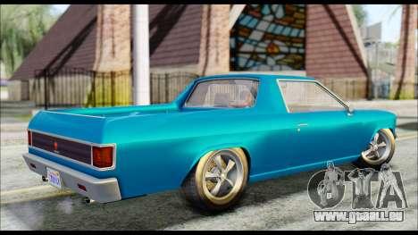 GTA 5 Cheval Picador IVF pour GTA San Andreas sur la vue arrière gauche