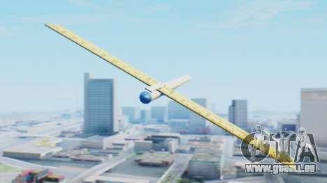 Fantastisches Flugzeug für GTA San Andreas zurück linke Ansicht
