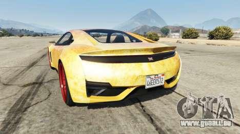 GTA 5 Dinka Jester (Racecar) Fire arrière vue latérale gauche